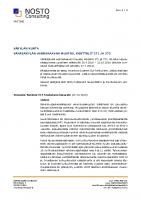 Selostuksen Liite 8 Vastine ehdotuksesta annettuihin lausuntoihin ja muistutuksiin